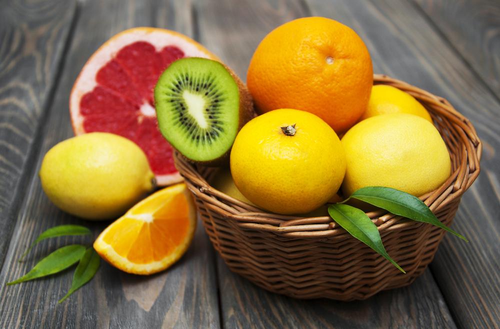 Košík plný vitamínů